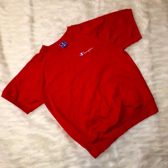 25c8d221 Champion Shirts | Vintage Short Sleeved Sweatshirt | Poshmark
